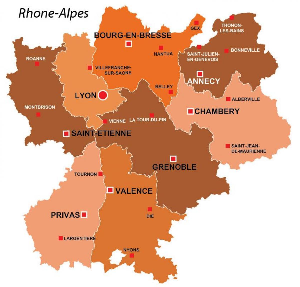 karta frankrike lyon Lyon regionen karta   Lyon regionen i frankrike karta (Auvergne  karta frankrike lyon