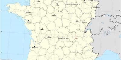lyon frankrike karta Lyon frankrike karta   Lyon på kartan (Auvergne regionen Rhône  lyon frankrike karta
